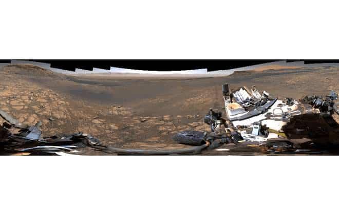 Panorama de Marte feito pelo rover Curiosity (NASA/JPL-Caltech/MSSS)