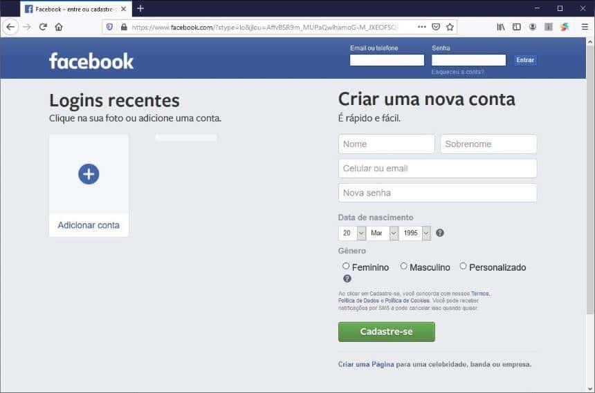 Login com www facebook br logo/fbfordevelopers