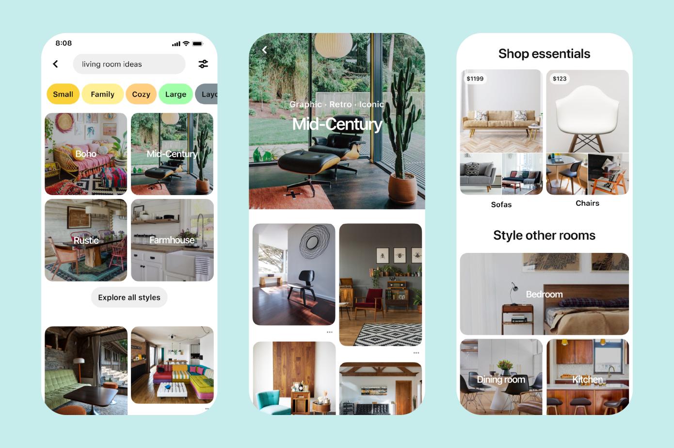 imagens do aplicativo pinterest