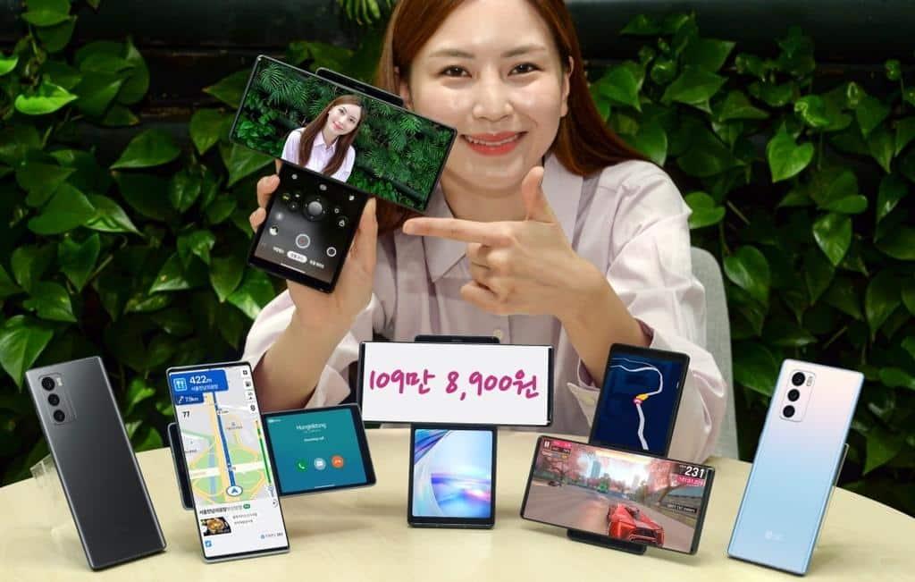 O LG Wing, smartphone com tela giratória, é o lançamento mais recente da LG.