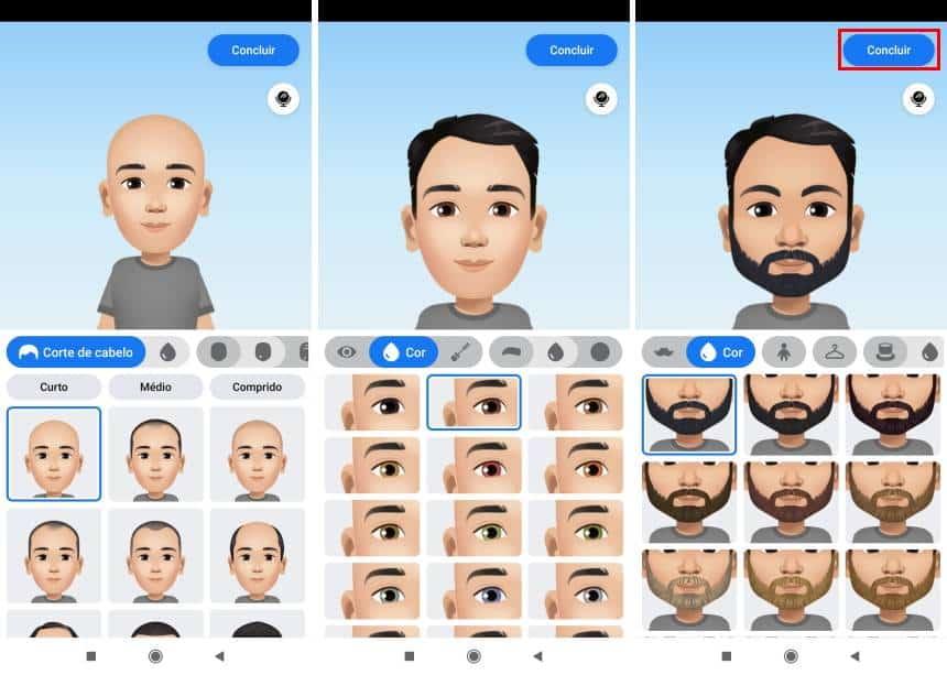 Avatares do Facebook