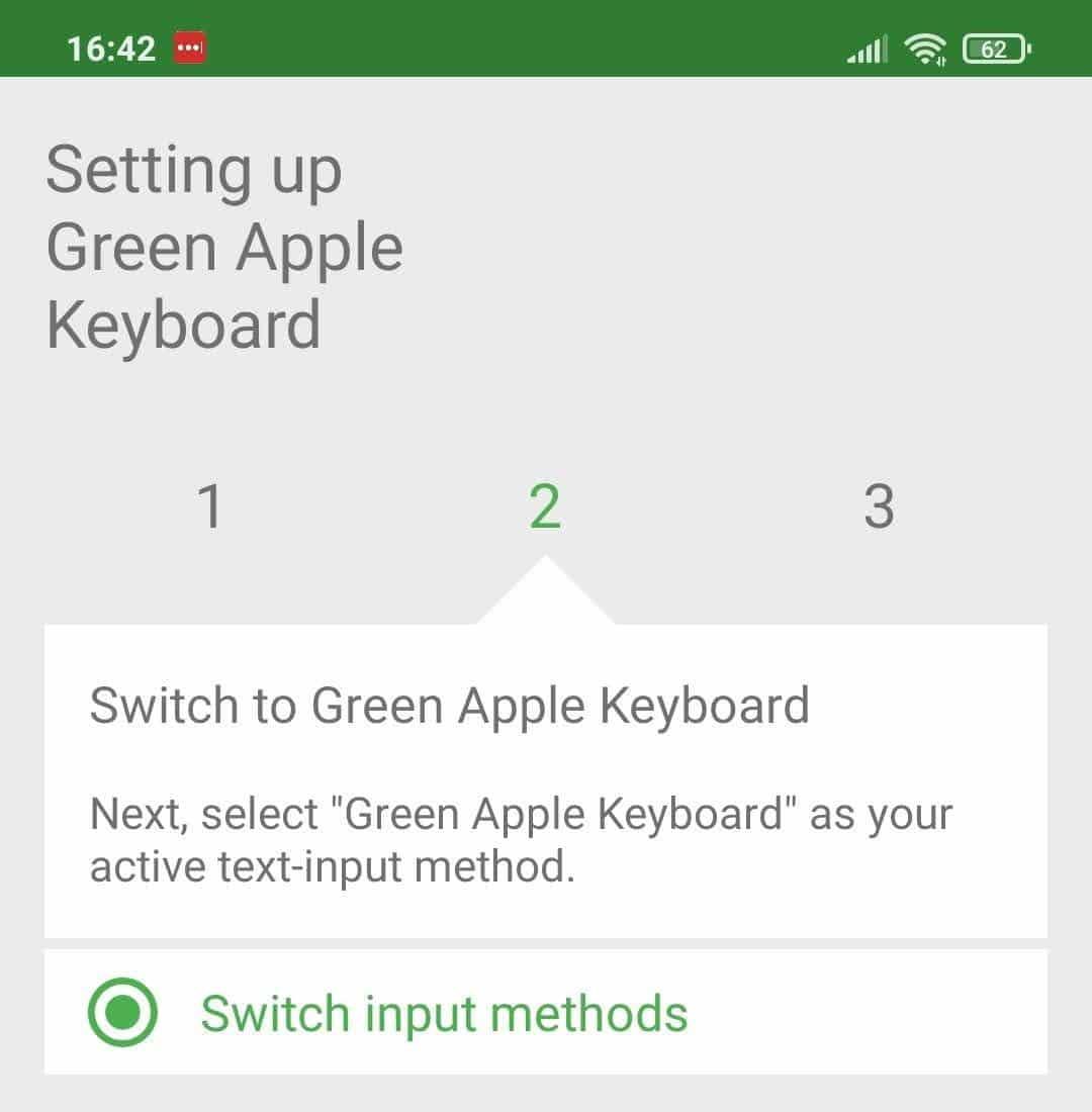 Green Apple Keyboard ficará disponível na lista de teclados. Crédito: Bruno Felix/Olhar Digital
