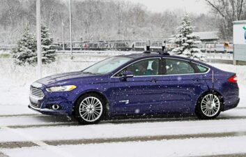 Ford tests its autonomous car during snowfalls