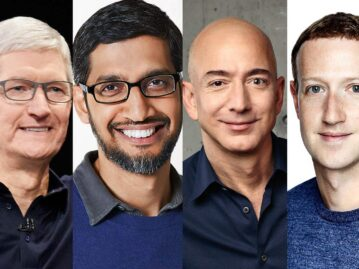 CEOs da Apple, Google, Amazon e Facebook são convidados para...
