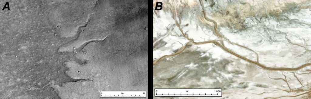Registros da superfície de Marte feitos pelas sondas da Nasa