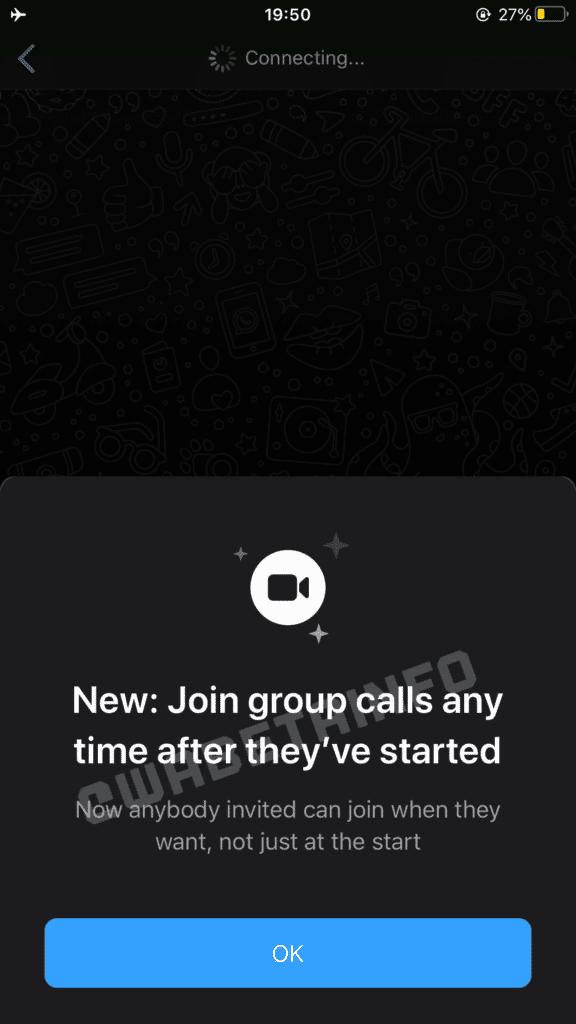 Recurso para entrar em chamadas perdidas do WhatsApp