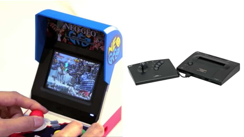 IAS vai lançar um novo teclado: Neo Geo Mini (à esquerda) foi uma reinterpretação do Neo Geo original (à direita), ambos lançados pela empresa