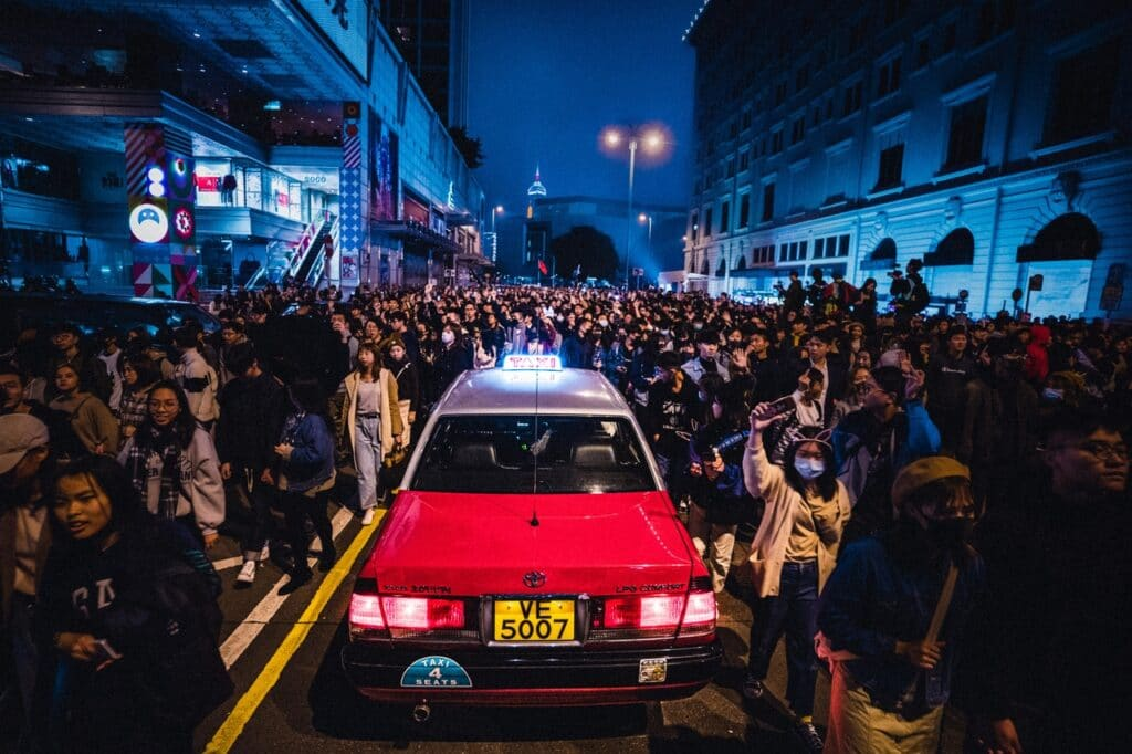 Manifestações em Hong Kong