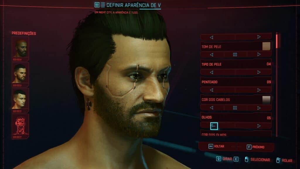 Criação do personagem - Cyberpunk 2077