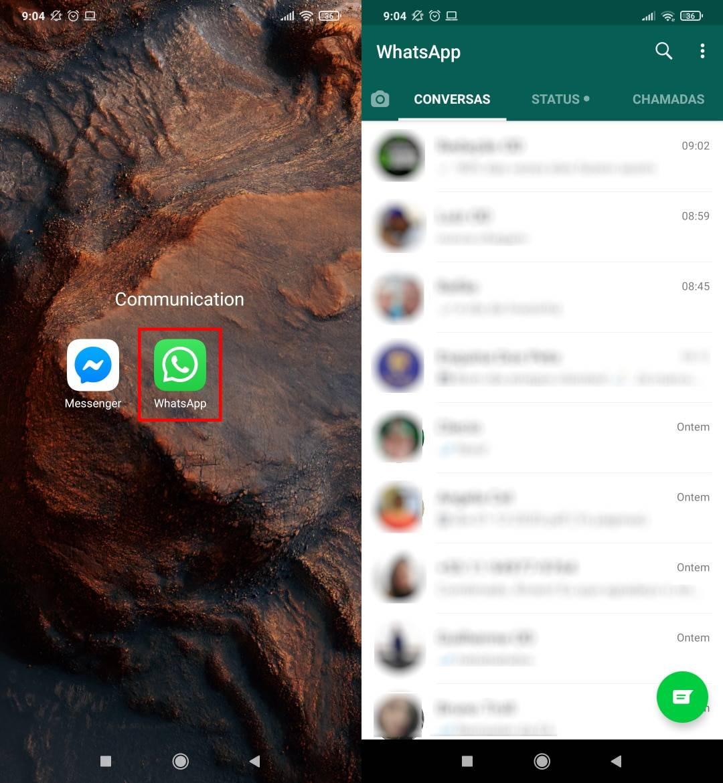Como mandar mensagens temporárias no WhatsApp - Passo 1
