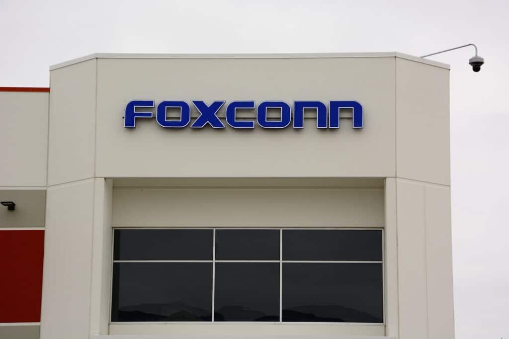 Fachada da empresa Foxconn