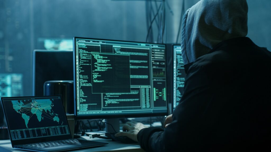 Hacker invadindo dispositivos