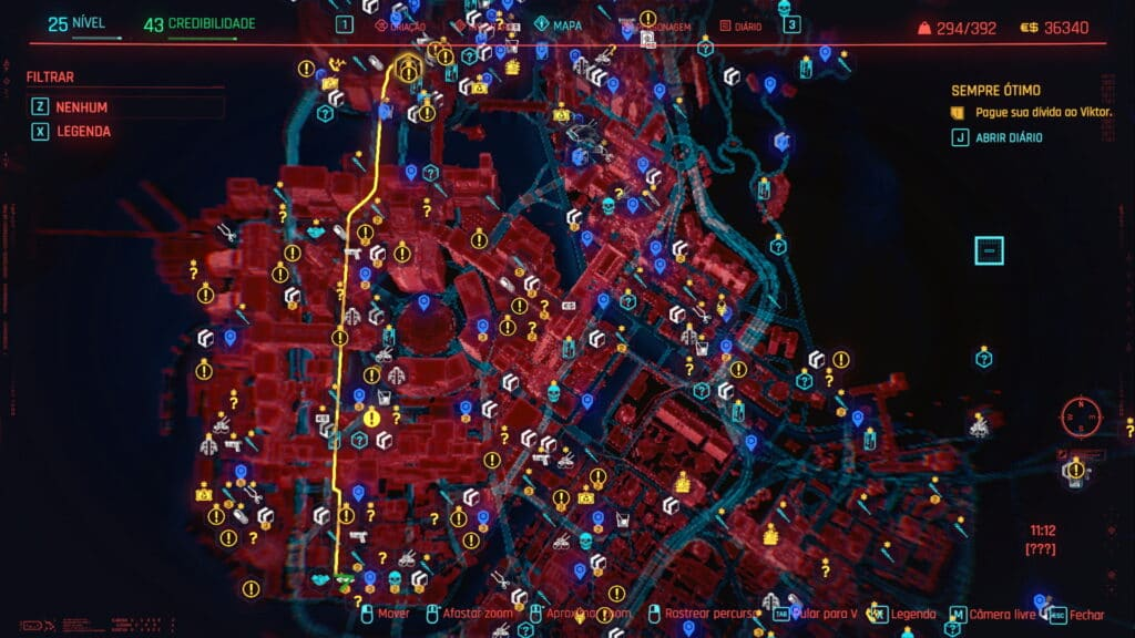 Night City Missions Map