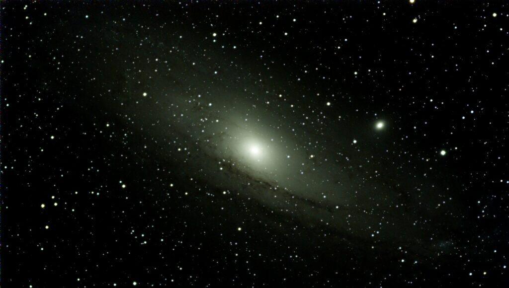 Galáxia Andrômeda, vista com o auxílio do Vespera