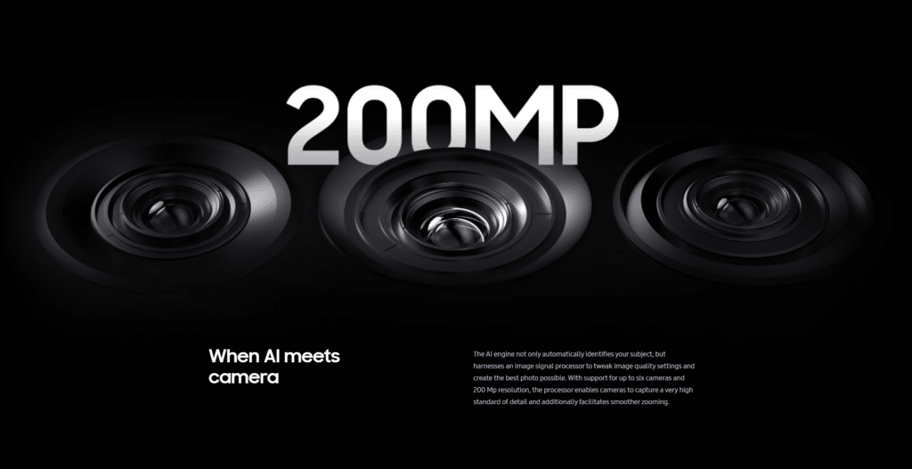 Exynos 2100, câmeras