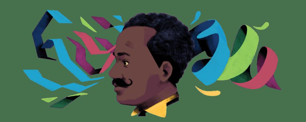 imagem do doodle de Juliano Moreira, o primeiro do google em 2021
