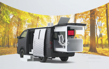 Nissan reveals four-wheeled office concept