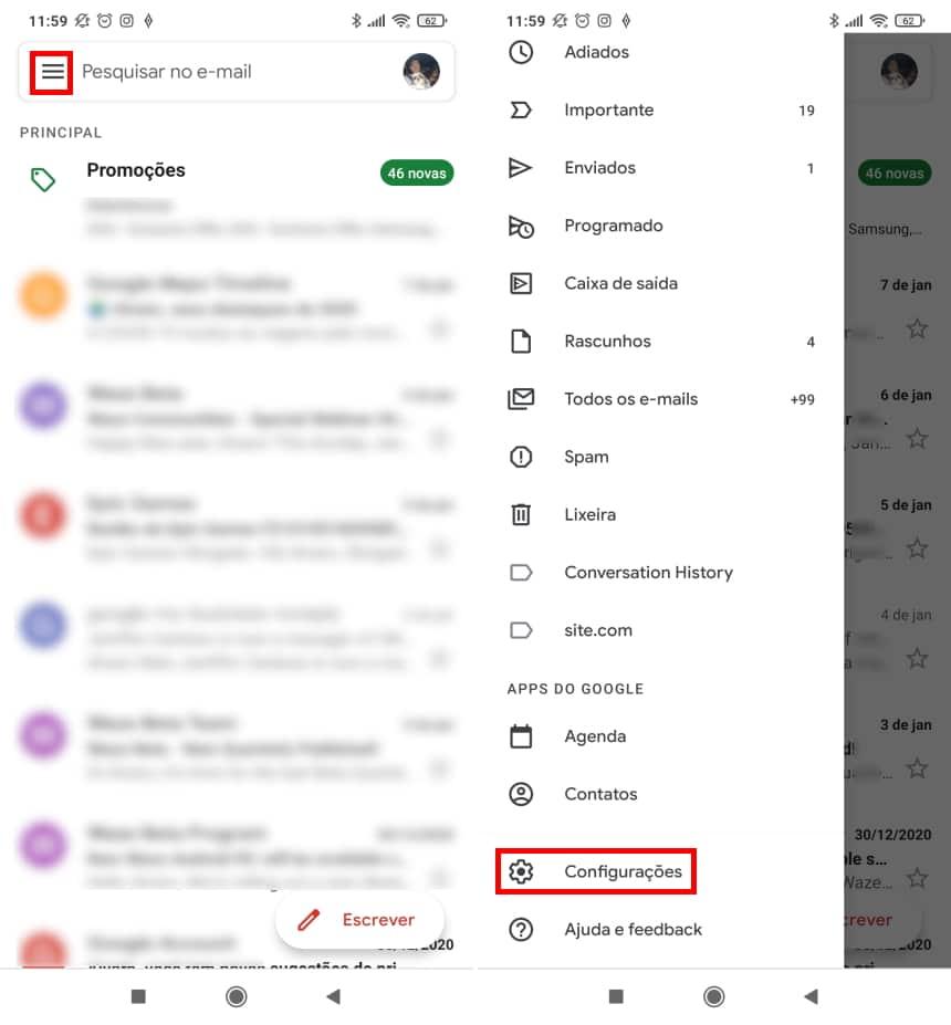 Cómo no ser rastreado por Gmail en dispositivos móviles - Paso 1