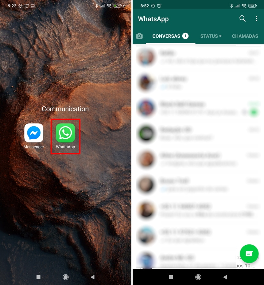 Como migrar conversas do WhatsApp para o Telegram no Android - Passo 1