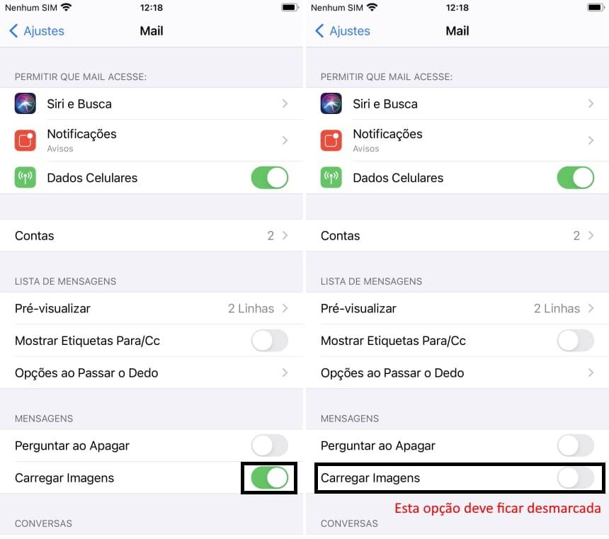 Cómo no ser rastreado por correos electrónicos en iPhone - Paso 2