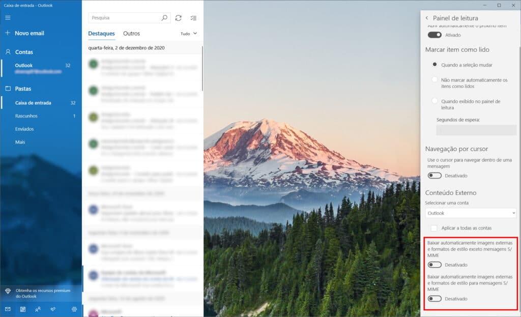 Cómo no ser rastreado en Microsoft Mail - Paso 3