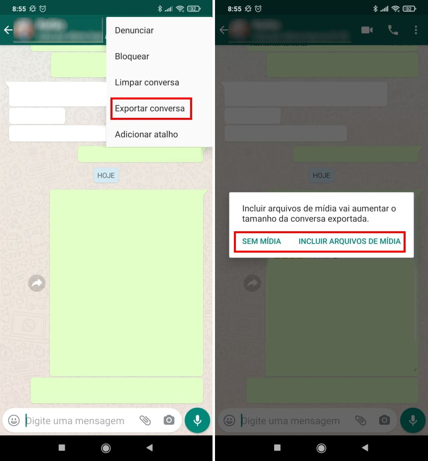 Como migrar conversas do WhatsApp para o Telegram no Android - Passo 3