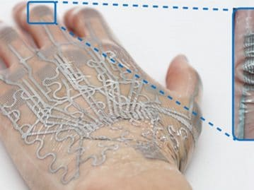 Electronic tattoo uses skin wrinkles to increase its ...