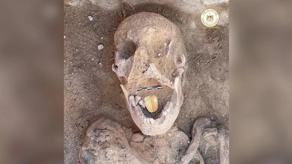 múmia língua de ouro