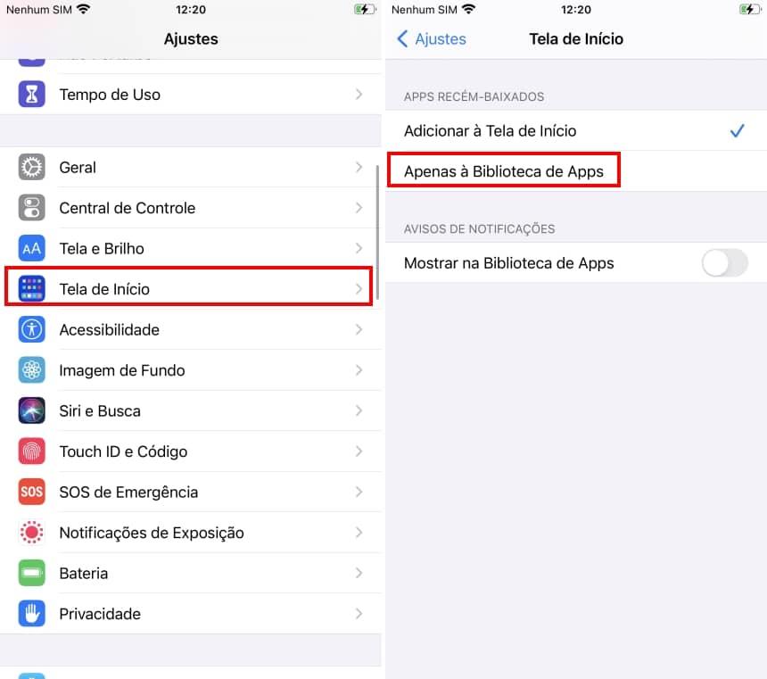 Esconder apps no iOS 14