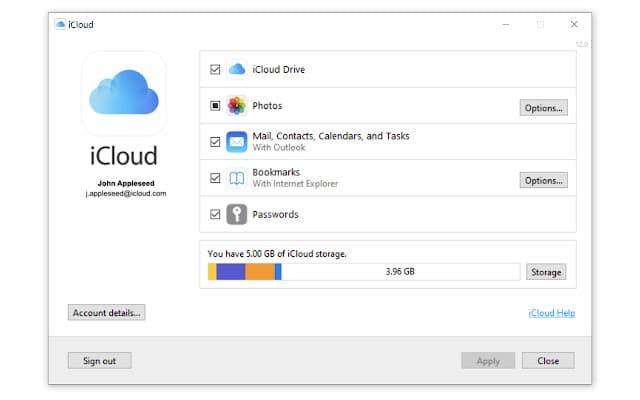 imagem da extensão do chrome que permite acesso a senhas no iCloud