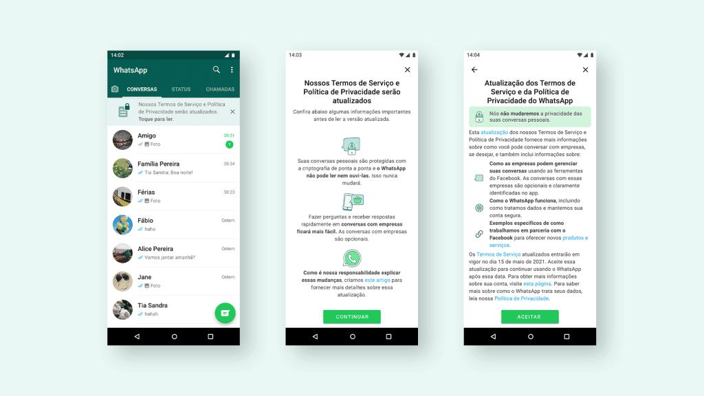 Nova poítica de privacidade do WhatsApp