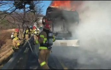 Hyundai electric bus catches fire in South Korea; Look