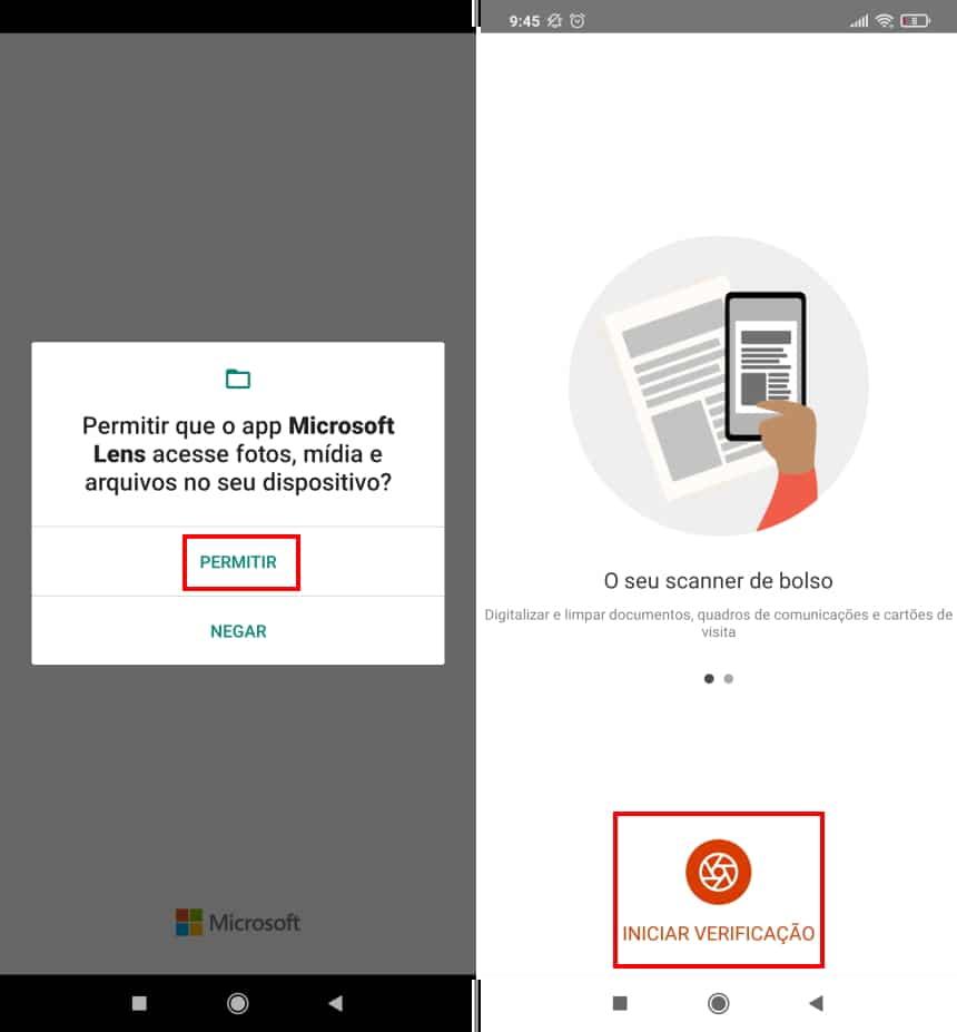 Como copiar textos com a câmera do celular usando o Microsoft Office Lens - Passo 2