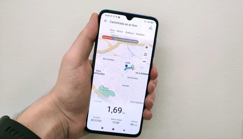 Huawei Health - Walk log