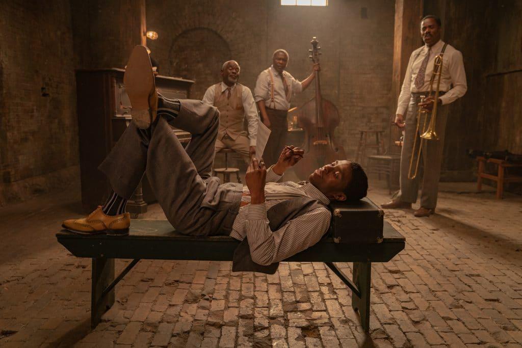 Chadwick Boseman em 'A Voz Suprema do Blues'. Imagem: David Lee/Netflix